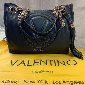 Mario Valentino Leather Tote Bag
